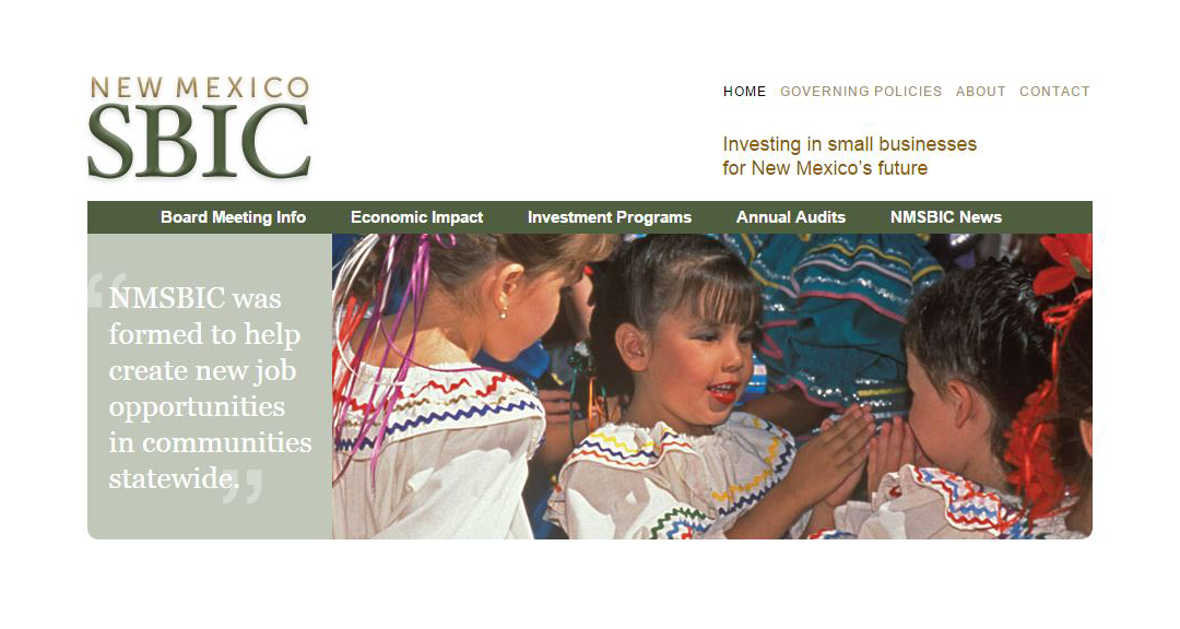 New Mexico Small Business Investment Corporation website
