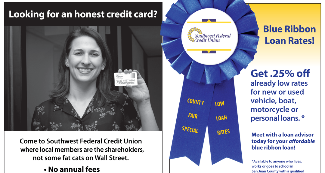 Southwest Federal Credit Union print ads